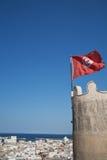Bandeira tunisina Imagens de Stock