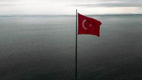 Bandeira turca video estoque