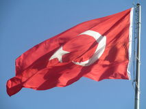 Bandeira turca Fotografia de Stock