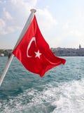 Bandeira turca vermelha Fotos de Stock Royalty Free