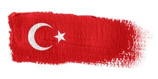 Bandeira Turquia do Brushstroke Fotos de Stock Royalty Free