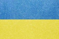 Bandeira Ucrânia Imagem de Stock