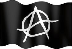 Bandeira undulating anárquica Ilustração Stock