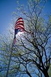 Bandeira Unfurled Foto de Stock Royalty Free