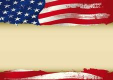 Bandeira usada EUA Fotos de Stock