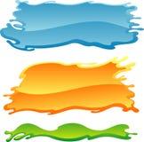 Bandeira vazia colorida da pintura Fotos de Stock