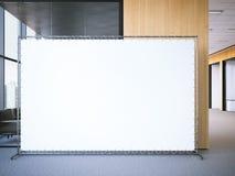 Bandeira vazia no escritório moderno rendição 3d ilustração do vetor