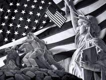 Bandeira velha da glória imagens de stock royalty free