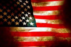 Bandeira velha da glória na pedra Fotografia de Stock