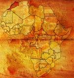 Bandeira velha do mapa de Marrocos Fotografia de Stock