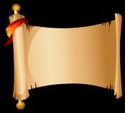 Bandeira velha do rolo Imagens de Stock Royalty Free
