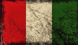 Bandeira velha do vintage de Itália A textura da arte pintou a bandeira nacional de Itália ilustração do vetor