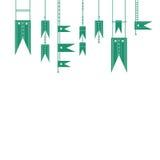 Bandeira verde Imagem de Stock