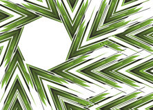 Bandeira verde abstrata da seta Fotografia de Stock