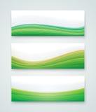 Bandeira verde da paisagem Foto de Stock