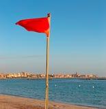 Bandeira vermelha Imagens de Stock