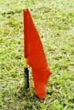 Bandeira vermelha Fotografia de Stock