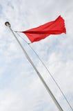 Bandeira vermelha Foto de Stock