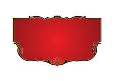 Bandeira vermelha fotografia de stock royalty free