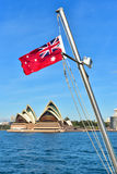 Bandeira vermelha australiana Foto de Stock Royalty Free