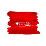 Bandeira vermelha brilhante isolada no fundo branco Imagem de Stock Royalty Free