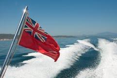 Bandeira vermelha da bandeira Imagens de Stock