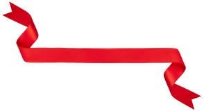 Bandeira vermelha da fita imagem de stock royalty free