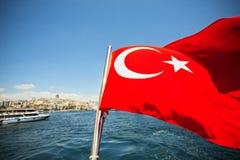 Bandeira vermelha da República da Turquia Foto de Stock