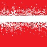 Bandeira vermelha do inverno Fotos de Stock Royalty Free