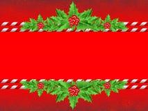 Bandeira vermelha do Natal Fotos de Stock Royalty Free