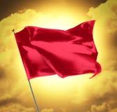 Bandeira vermelha em branco Fotografia de Stock