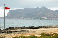 Bandeira vermelha em Itália Imagem de Stock Royalty Free