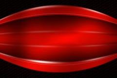 Bandeira vermelha no hexágono preto da fibra do carbono Fotografia de Stock