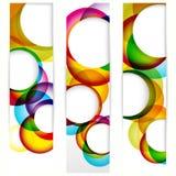 Bandeira vertical abstrata Fotos de Stock Royalty Free