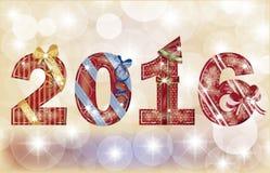 Bandeira 2016, vetor do ano novo feliz Foto de Stock Royalty Free