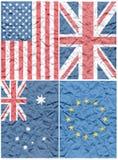 Bandeira vincada Fotos de Stock Royalty Free