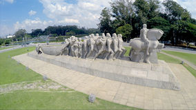 Bandeirantes Monument in Ibirapuera Park, Sao Paulo, Brazil Royalty Free Stock Images