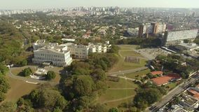 Bandeirantes Palace, Government of the State of Sao Paulo in the Morumbi neighborhood, Brazil. South AmericanDrone shooting: 07/15/2018 stock video