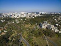 Bandeirantes slott, regering av staten av Sao Paulo, i den Morumbi grannskapen, Brasilien arkivbild
