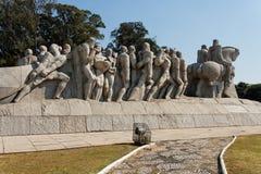 bandeiras巴西纪念碑保罗圣地 库存照片