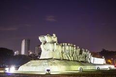 Bandeiras纪念碑 免版税图库摄影