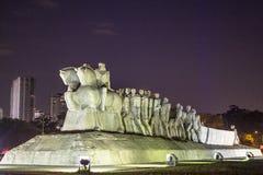 Bandeiras纪念碑 库存照片
