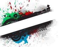 Bandeiras à moda de Grunge ilustração do vetor