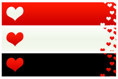 Bandeiras 1 do Valentim de Saint Imagem de Stock