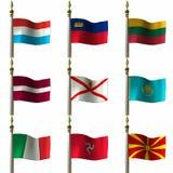 Bandeiras Imagem de Stock