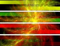 Bandeiras abstratas Fotos de Stock Royalty Free