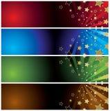 Bandeiras abstratas com estrelas Fotografia de Stock