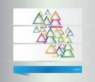 Bandeiras abstratas com triângulos Fotos de Stock