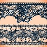 Bandeiras abstratas da fita do laço, teste padrão árabe das listras ilustração stock