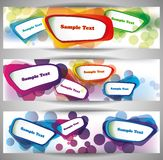 Bandeiras abstratas da Web Imagem de Stock Royalty Free